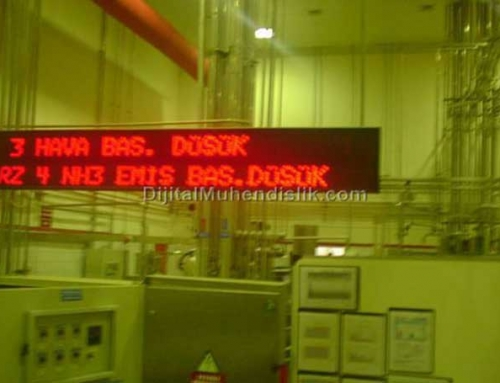 Algida Factory Moving Text Display